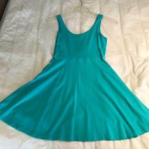 Mint green express sun dress